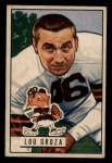 1951 Bowman #75  Lou Groza  Front Thumbnail