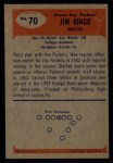 1955 Bowman #70  Jim Ringo  Back Thumbnail