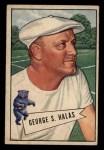 1952 Bowman Small #48   George Halas Front Thumbnail