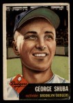 1953 Topps #34   George Shuba Front Thumbnail