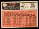 1966 Topps #441  Tommie Sisk  Back Thumbnail