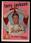 1959 Topps #399   Larry Jackson Front Thumbnail
