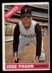 1966 Topps #54   Jose Pagan Front Thumbnail