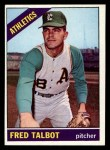 1966 Topps #403   Fred Talbot Front Thumbnail