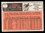 1966 Topps #71  Frank Carpin  Back Thumbnail