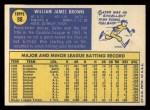 1970 Topps #98   Gates Brown Back Thumbnail