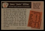 1955 Bowman #98  Jim Gilliam  Back Thumbnail