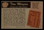 1955 Bowman #100   Tom Morgan Back Thumbnail