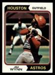 1974 Topps #43  Jim Wynn  Front Thumbnail