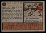 1962 Topps #36   Don Leppert Back Thumbnail