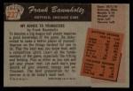 1955 Bowman #227  Frank Baumholtz  Back Thumbnail