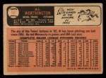 1966 Topps #181   Al Worthington Back Thumbnail