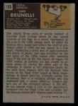 1971 Topps #185  Sam Brunelli  Back Thumbnail
