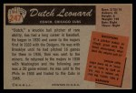 1955 Bowman #247   Dutch Leonard Back Thumbnail