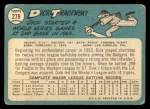 1965 #279  Dick Tracewski  Back Thumbnail