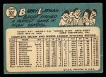 1965 Topps #307  Barry Latman  Back Thumbnail