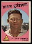 1959 Topps #243   Marv Grissom Front Thumbnail