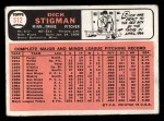 1966 Topps #512  Dick Stigman  Back Thumbnail