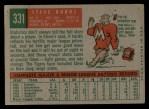 1959 Topps #331   Steve Boros Back Thumbnail