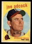 1959 Topps #315   Joe Adcock Front Thumbnail