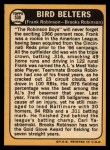 1968 Topps #530  Bird Belters  -  Frank Robinson / Brooks Robinson Back Thumbnail