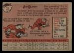 1958 Topps #28   Jim Busby Back Thumbnail