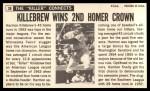 1964 Topps Giants #38   Harmon Killebrew  Back Thumbnail