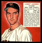 1952 Red Man #10 NLx  Larry Jansen Front Thumbnail