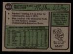 1974 Topps #565   Milt Wilcox Back Thumbnail