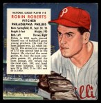 1954 Red Man #18 NLx Robin Roberts  Front Thumbnail