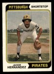 1974 Topps #566   Jackie Hernandez Front Thumbnail