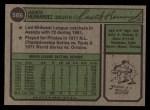 1974 Topps #566  Jackie Hernandez  Back Thumbnail