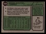 1974 Topps #568   Mike Torrez Back Thumbnail