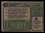 1974 Topps #576   Scipio Spinks Back Thumbnail