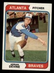 1974 Topps #614  Adrian Devine  Front Thumbnail