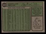 1974 Topps #624   Bob Miller Back Thumbnail