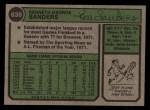 1974 Topps #638   Ken Sanders Back Thumbnail