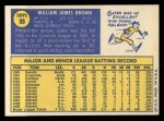 1970 Topps #98   Gates Brown Back Thumbnail