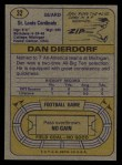 1974 Topps #32   Dan Dierdorf Back Thumbnail