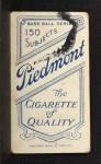 1909 T206 #322 xCAP John McGraw  Back Thumbnail