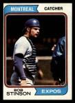 1974 Topps #653   Bob Stinson Front Thumbnail