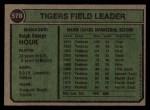 1974 Topps #578  Ralph Houk  Back Thumbnail