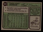 1974 Topps #581   Fred Norman Back Thumbnail