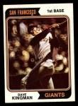1974 Topps #610  Dave Kingman  Front Thumbnail