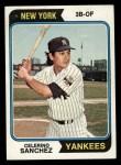 1974 Topps #623   Celerino Sanchez Front Thumbnail