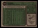 1974 Topps #623   Celerino Sanchez Back Thumbnail
