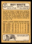 1968 Topps #546   Roy White Back Thumbnail