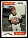 1974 Topps #565  Milt Wilcox  Front Thumbnail