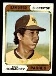 1974 Topps #572  Enzo Hernandez  Front Thumbnail