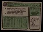 1974 Topps #577   Mike Sadek Back Thumbnail